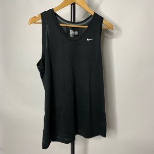 Nike Black Sleeveless Tank Top Shirt